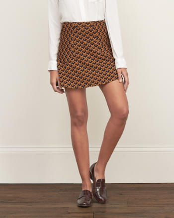 ANF Patterned A-Line Skirt