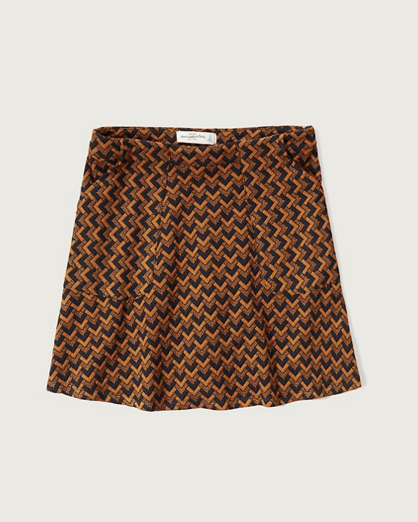 womens patterned a line skirt womens sale abercrombie