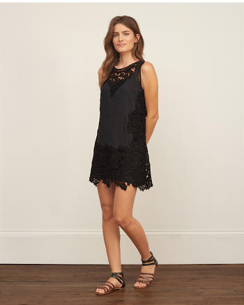 ANF Floral Lace Shift Dress