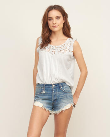 Womens Embroidered Lace Cami