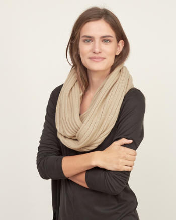 Womens Ribbed Snood