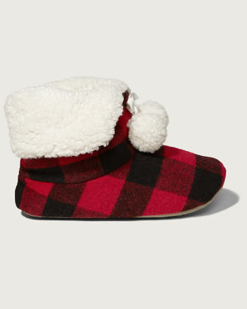 Womens Sherpa Pom-pom Slippers