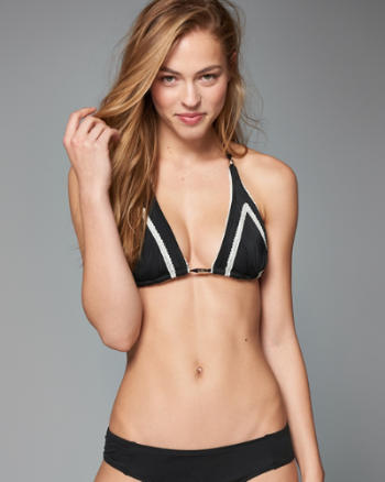 ANF Lightly Lined Triangle Bikini Top