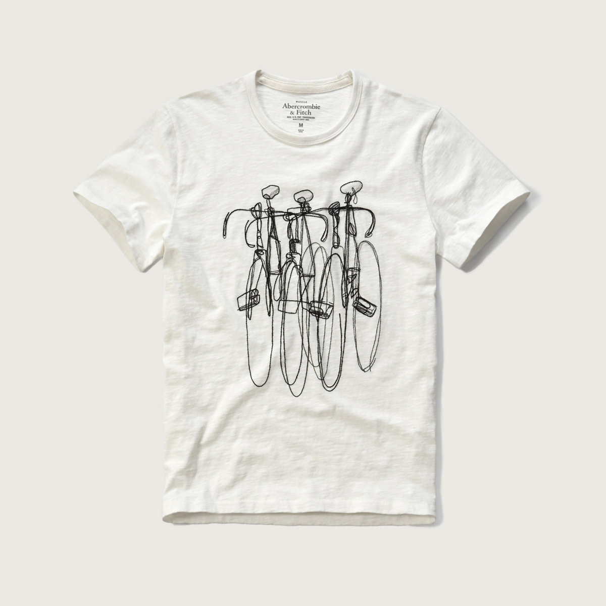 Embroidered Bike Graphic Tee