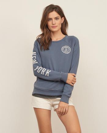 ANF Applique Logo Crew Sweatshirt