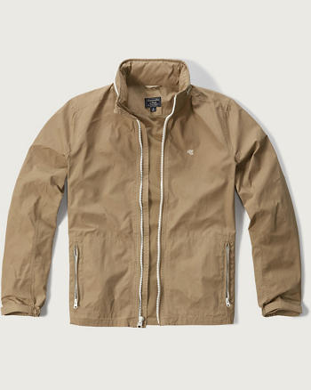ANF Convertible-Hood Shell Jacket