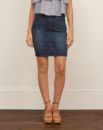 ANF Midi Denim Skirt