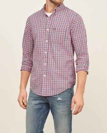 ANF Check Seersucker Shirt