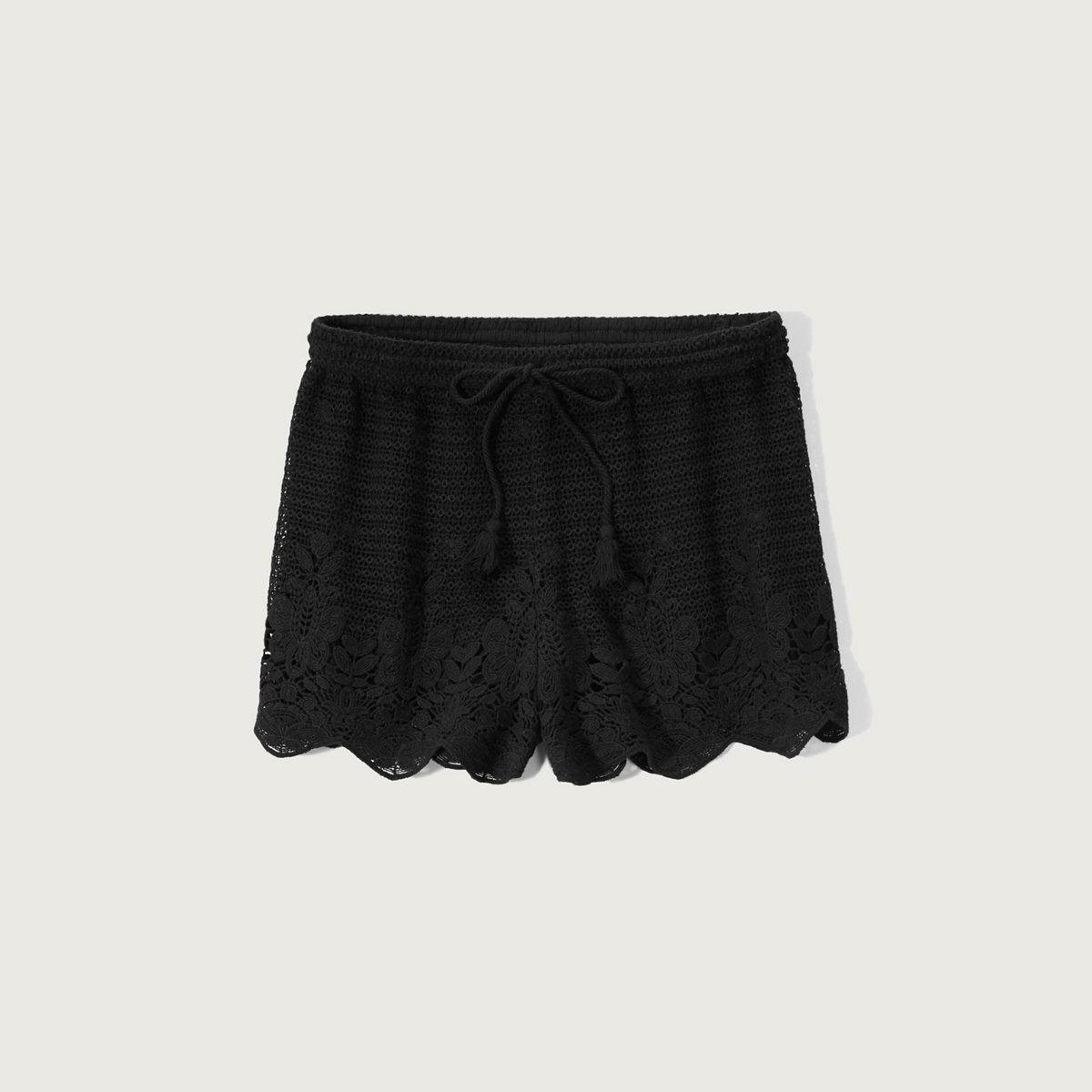 Crochet Lace Soft Shorts