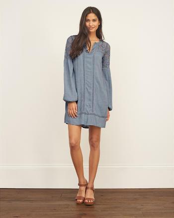 ANF Lace Panel Shift Dress
