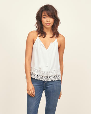 Womens Drapey Tiered Cami