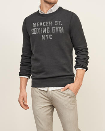 Mens NYC Graphic Crew Sweatshirt