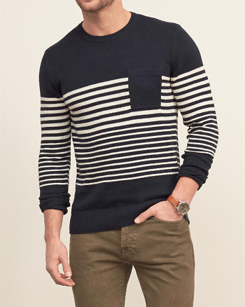 ANF Stripe Pocket Sweater