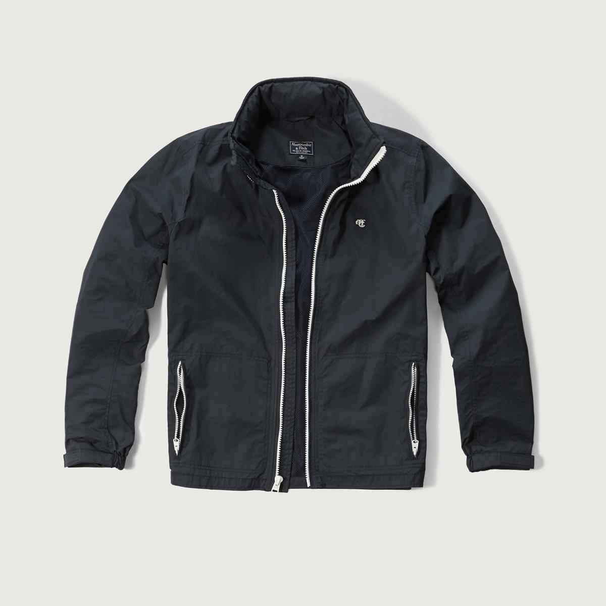 Convertible-Hood Shell Jacket