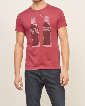 Mens Coca-cola Graphic Tee