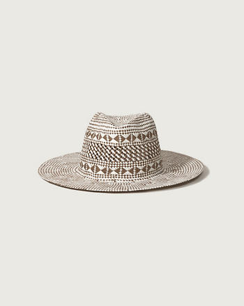 ANF Woven Two-Tone Panama Hat