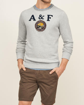 ANF Logo Graphic Crew Sweatshirt