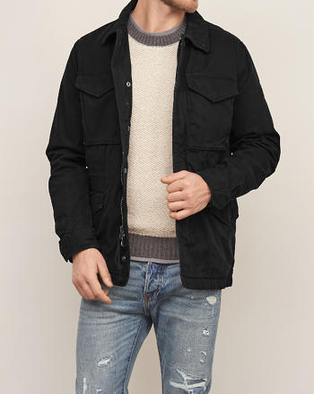 ANF Twill Military Jacket