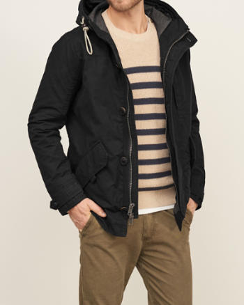 Mens Coastal Canvas Jacket