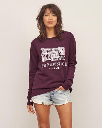 ANF NYC Graphic Crew Sweatshirt
