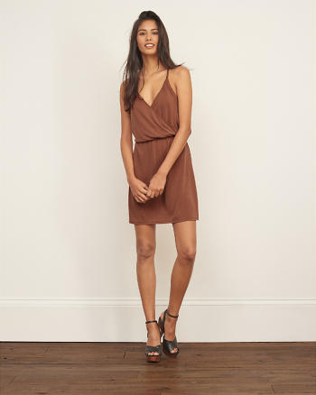 ANF Drapey Wrap Front Dress