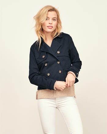 ANF Cropped Trench Jacket