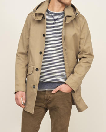 Mens Bonded Cotton Mac Coat