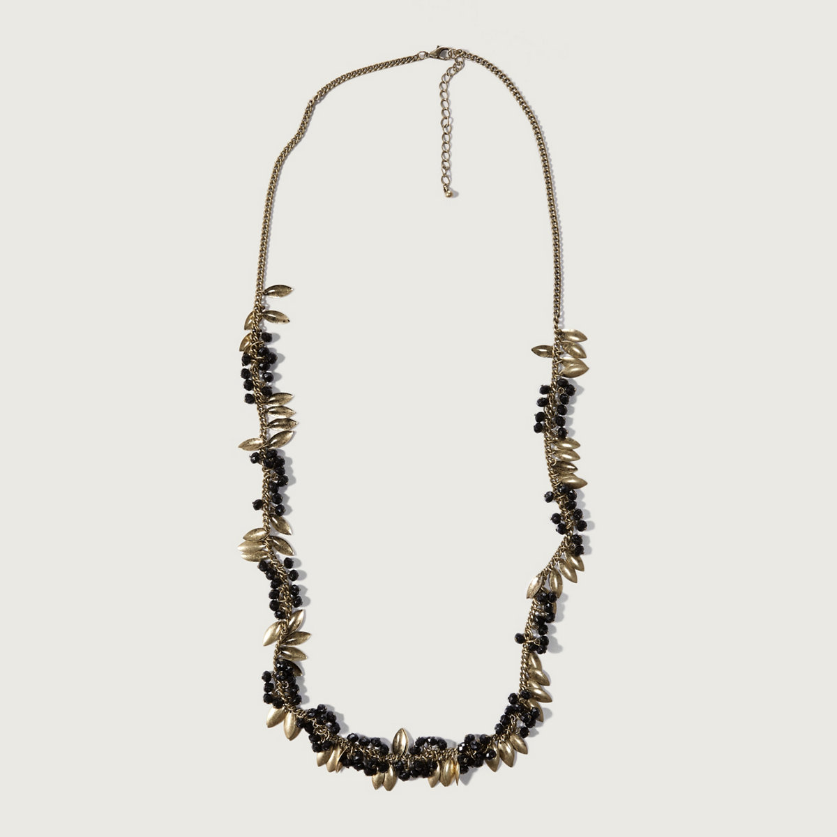 Bead & Leaf Necklace