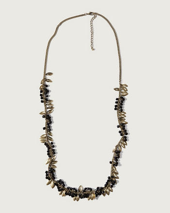 ANF Bead & Leaf Necklace