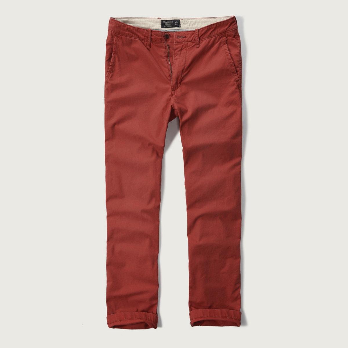 Slim Straight Chino Pants