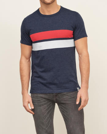 Mens Nautical Stripe Pocket Tee