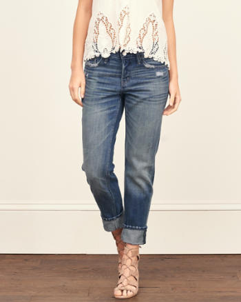 Womens Straight Boyfriend Jeans