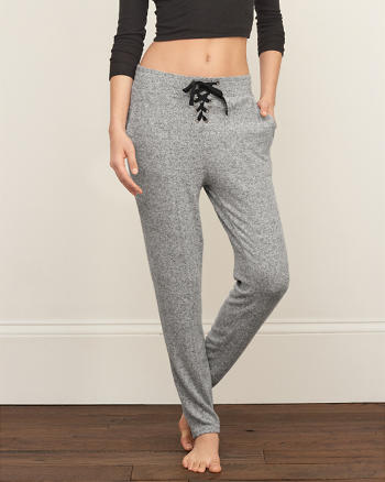 ANF A&F Lace-up Slouchy Pants