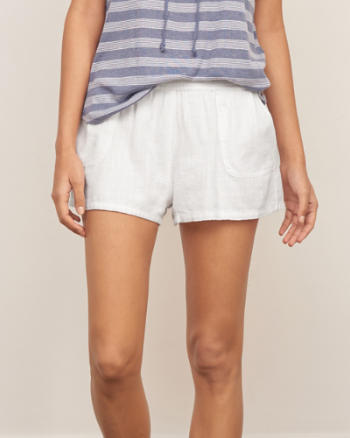Womens Linen Soft Shorts