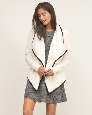 Womens Sherpa Non Closure Cardigan