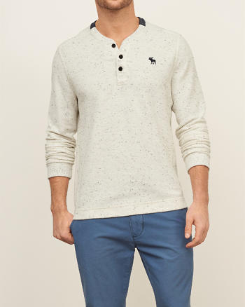 ANF Textured Fleece Henley