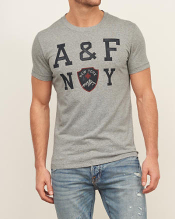 Mens Printed Logo Graphic Tee