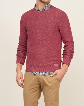 ANF Rib-Trim Crew Sweater