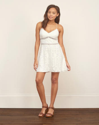 Womens Lace Tie-back Dress