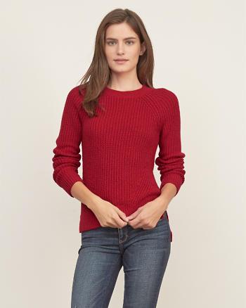 ANF Shaker-stitch Crew Sweater