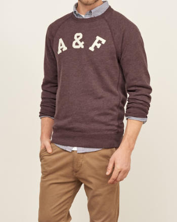 Mens Applique Logo Sweatshirt