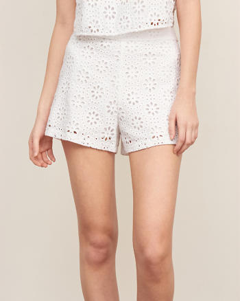 ANF Structured Lace Short