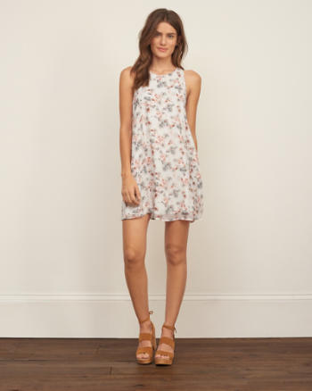 Womens Chiffon Swing Dress