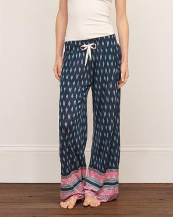 Womens Patterned Sleep Pants