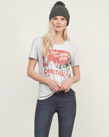 ANF Grinch Graphic Tee