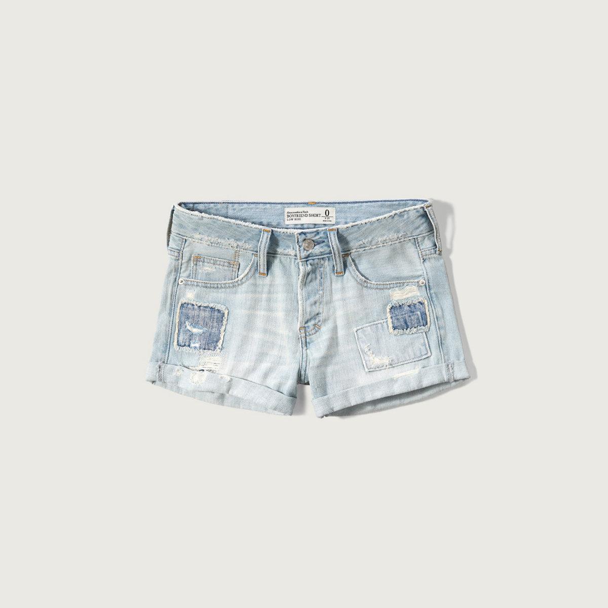 Patched Boyfriend Shorts