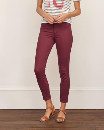 Womens High Rise Super Skinny Ankle Pant
