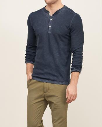 ANF Garment Dye Slub Henley