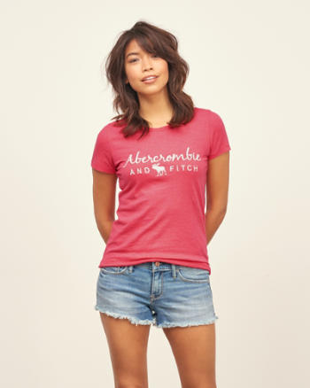 Womens Embroidered Logo Tee