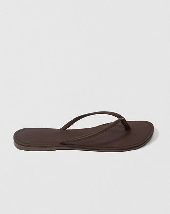 ANF Faux Leather Flip Flops